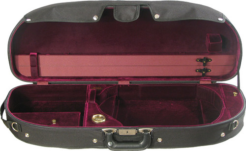 Bobelock Half Moon Suspension Viola Case - Velour - Wine