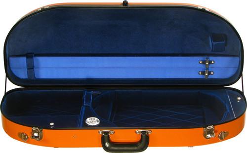 Bobelock Fiberglass Moon Adjustable Viola Case - Orange/Blue