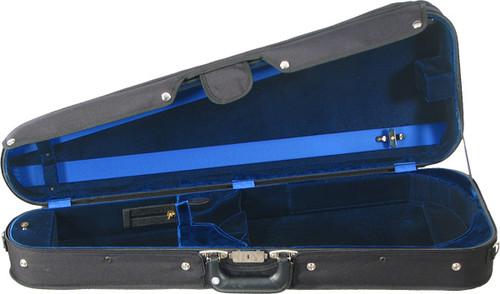 Bobelock Arrow Adjustable Viola Case - Velour - Blue