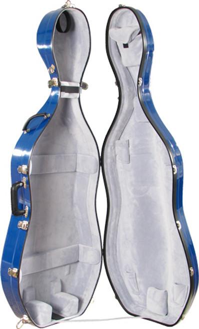Bobelock Cello Case - No Wheels - Blue/Gray