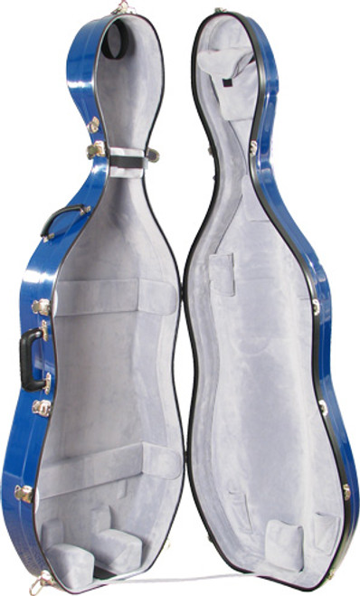 Bobelock Cello Case - No Wheels - Blue/Gray