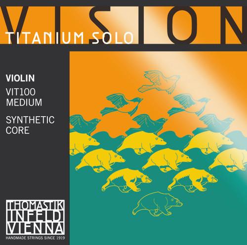 Vision Titanium Solo String Set for 4/4 Violin