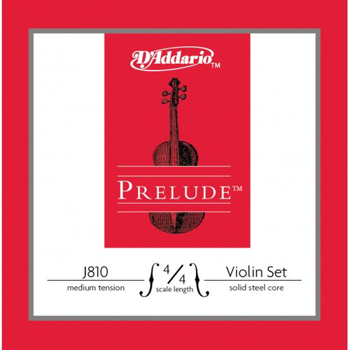 D'Addario Prelude violin strings set.