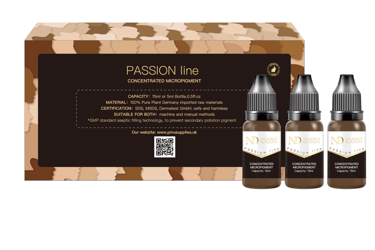 ND passion 6x15ml concentrated micro pigments lip/ eyebrows