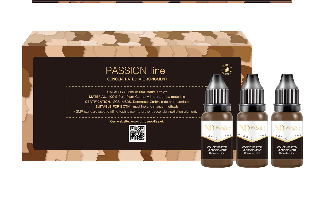 STARTER KIT ND passion 6x5ml concentrated micro pigments lip/ eyebrows