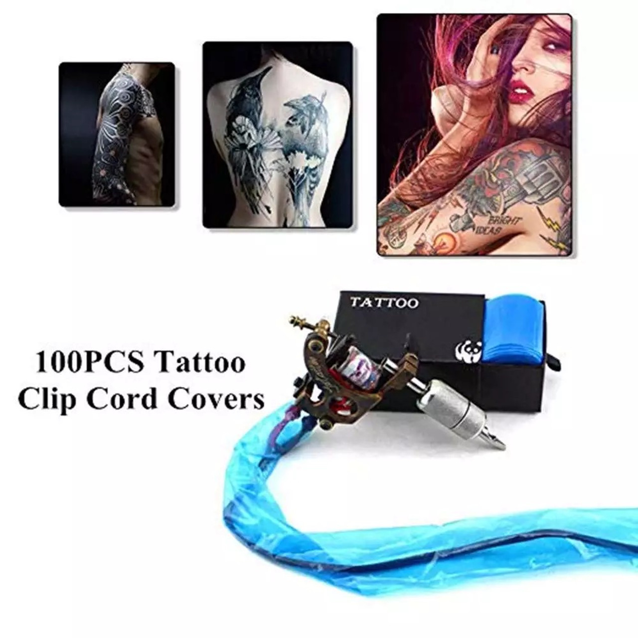 Pro Disposable Hygiene Tattoo Machine Clip Cord Covers Bags Supply Sleeves Disposable Plastic Hygiene Machine Cover 100pcs