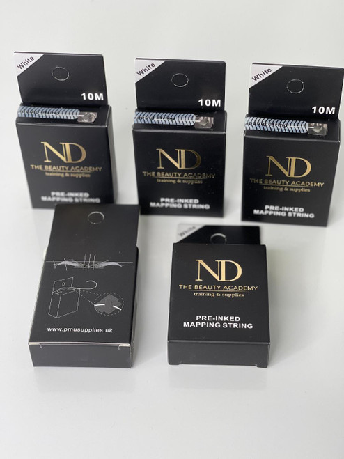 pre inked mapping string WHITE 10 m Microblading Supplies Eyebrow Marker Threading Thread Tattoo Brows Point Tool Pre Inked Brow Tattoo Mapping String Eyebrow Thread