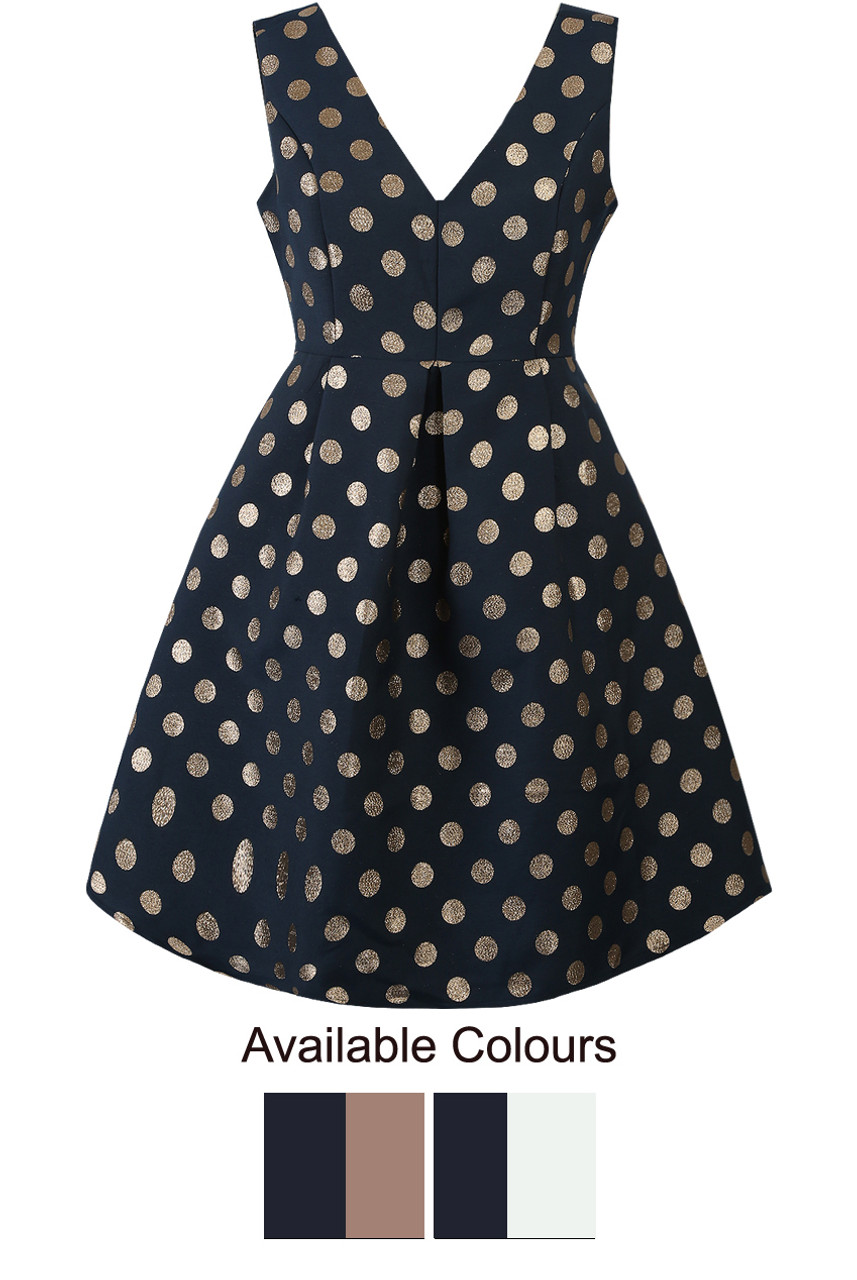 Foil Polka Dot Skater Dress - Buy Fashion Wholesale in The UK ac48b83b7