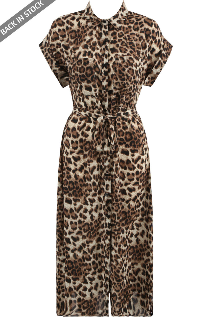Leopard Printed Belted Playsuit- Buy Fashion Wholesale in The UK 240068bdc