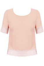 Cut Out Open Back Short Sleeve Tops - 4 colours