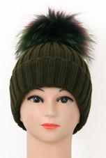 Real Fur Pom Pom Knit Winter Hat - 8 Colours - Buy Fashion Wholesale ... 0de1a6e3baa