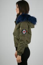 Fur Hood Military Bomber Jacket - 3 Colours