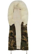 Camouflage Fur Hood Gilet - 2 Colours