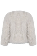 Ostrich Feather Long Sleeve Coat - 7 Colours
