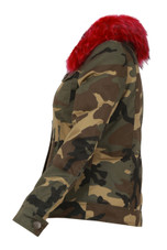 Camouflage Fur Lined Jacket - 4 Colours