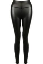 High Waist Black Sleek PU Leggings
