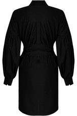 Puff Sleeve Belted Shirt Dress - 4 Colours