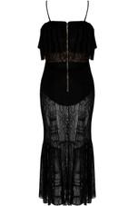 Contrast Lined Lace Midi Dress - 3 Colours