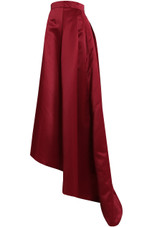 Pleated Back Zip Up Asymmetric Skirt - 3 Colours