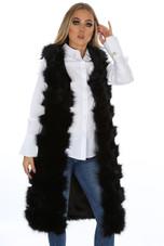 Shaggy Longline Fur Gilet - 3 Colours
