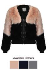 Fur with Fleece Zip Up Jacket - 3 Colours