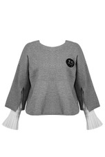 Knit Inlay Cropped Cape - 3 Colours