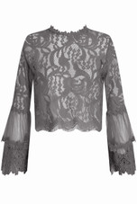 Lace Floral Embroidery Tops