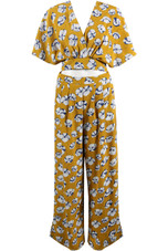 Flower Wrap Crop Top & Trouser Co-Ord - 3 Colours