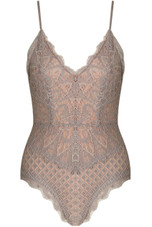 Floral Lace Crochet Scallop Bodysuit - 10 New Colours