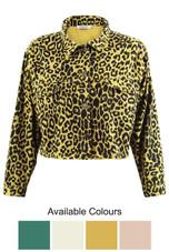 Leopard Printed Denim Jacket - 4 Colours
