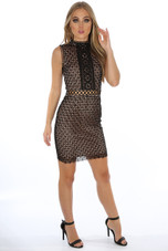 Lace Overlay Lined Midi Dress - 5 Colours