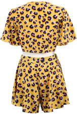 Leopard Tie Up Crop Top & Flowing Shorts Co-ord - 4 Colours