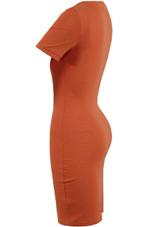 Ribbed Short Sleeves Midi Dress - 3 Colours