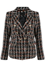 Knitted Check Double Breast Blazer - 3 Colours