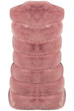 Layers Pattern Shaggy Faux Fur Gilet - 5 Colours