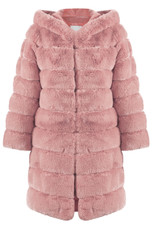 Layers Pattern Shaggy Faux Fur Overcoat - 5 Colours