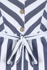 Striped Front Button Up Jumpsuit - 2 Colours