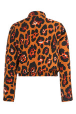 Leopard Print Front Zip Up Jacket - 2 Colours