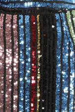 Sequin Multicolour Stripes Top & Skirt Co-Ord - 2 Colours