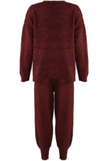Melange Knitted Jumper & Jogger Loungewear - 3 Colours