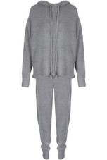Knitted Hoodie & Jogger Loungewear - 2 Colours