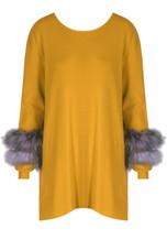 Fur Cuff Trim Jumpers - Mixed Colour Pack
