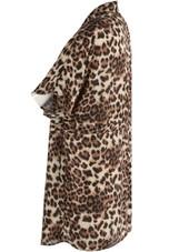 Leopard Tie Up Waist Shirt Dress