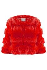 Cropped Super Soft Faux Fur Tier Coat - 8 Colours