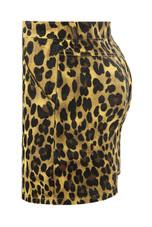 Leopard Denim Zip Up Mini Skirt - 2 Colours