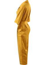 Lapels Tie Up Safari Jumpsuit - 3 Colours