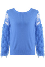 Lace Mohair Sleeves Knitted Jumper - Mixed Colour Pack