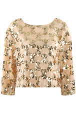 Sequin Mohair Trim Cropped Jumper - 4 Colours