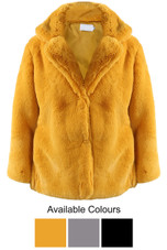 Shaved Oversize Faux Fur Coat - 3 Colours