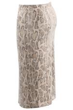 Snake Fishnet Overlay Texture Pencil Skirt